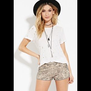 Sequined and Beaded Booty Shorts